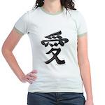 Love Japanese Kanji Jr. Ringer T-Shirt