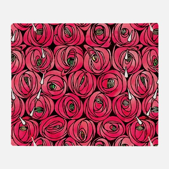 Unique Rose art Throw Blanket