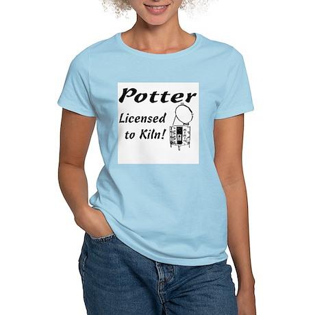 Potter. Licensed to Kiln (sketch) Women's Pink T-S