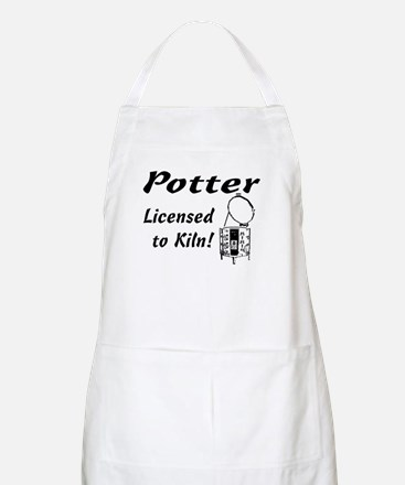Potter. Licensed to Kiln (sketch) BBQ Apron