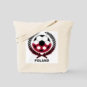 Poland World Cup Soccer Wreath Tote Bag