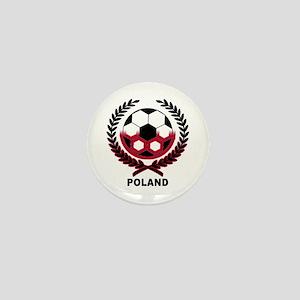 Poland World Cup Soccer Wreath Mini Button