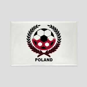 Poland World Cup Soccer Wreath Rectangle Magnet