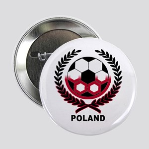 Poland World Cup Soccer Wreath Button