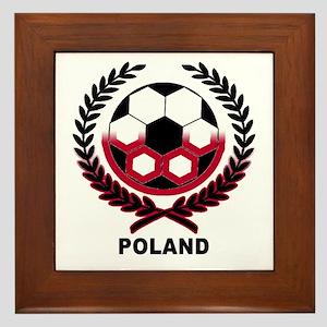 Poland World Cup Soccer Wreath Framed Tile