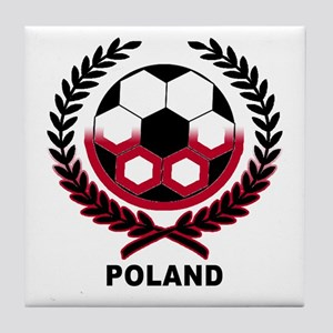 Poland World Cup Soccer Wreath Tile Coaster