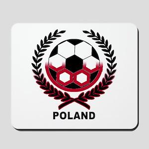 Poland World Cup Soccer Wreath Mousepad