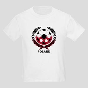 Poland World Cup Soccer Wreath Kids T-Shirt