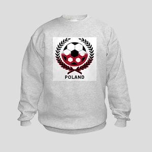 Poland World Cup Soccer Wreath Kids Sweatshirt