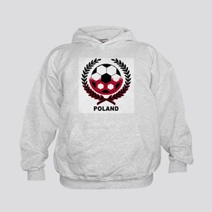 Poland World Cup Soccer Wreath Kids Hoodie