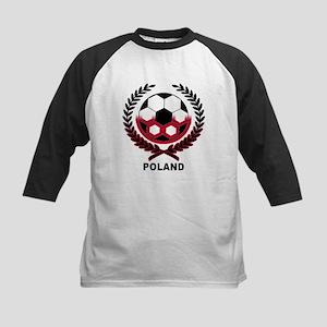 Poland World Cup Soccer Wreath Kids Baseball Jerse