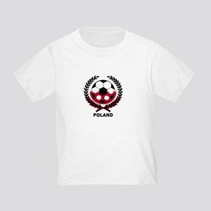 Poland World Cup Soccer Wreath Toddler T-Sh