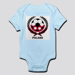 Poland World Cup Soccer Wreath Infant Creeper