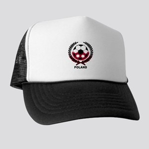 Poland World Cup Soccer Wreath Trucker Hat