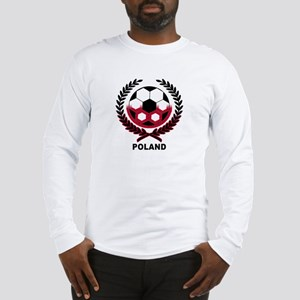 Poland World Cup Soccer Wreath Long Sleeve T-Shirt