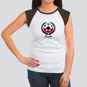 Poland World Cup Soccer Wreath Women's Cap Sleeve