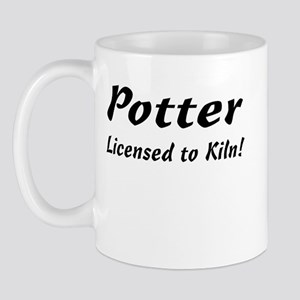 Potter. Licensed to Kiln Mug