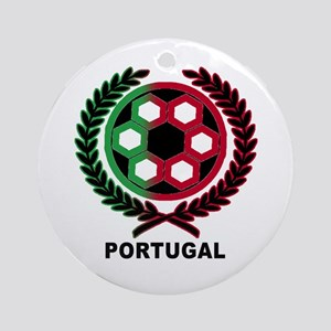 Portugal World Cup Soccer Wreath Ornament (Round)