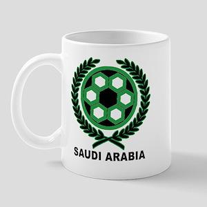 Saudi Arabia World Cup Soccer Wreath Mug