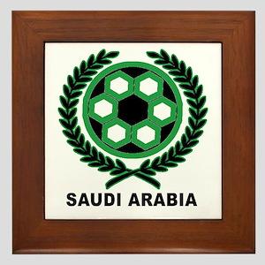 Saudi Arabia World Cup Soccer Wreath Framed Tile