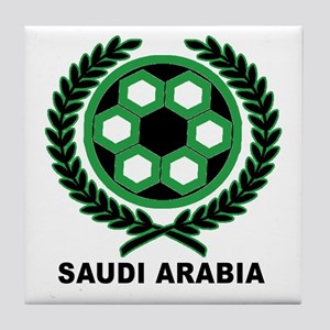 Saudi Arabia World Cup Soccer Wreath Tile Coaster