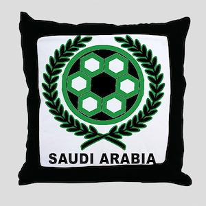Saudi Arabia World Cup Soccer Wreath Throw Pillow