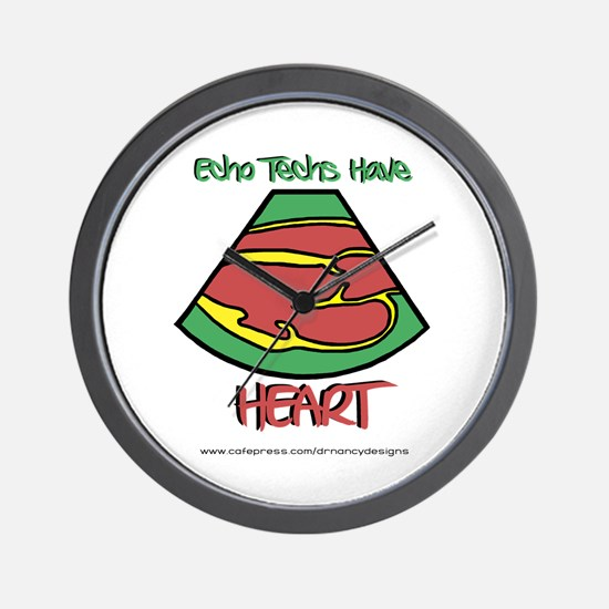 Echo Techs Have Heart Wall Clock