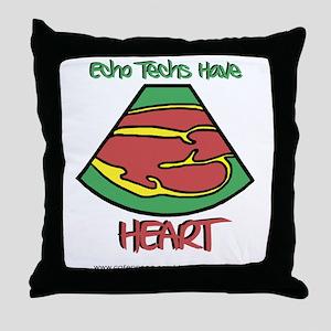 Echo Techs Have Heart Throw Pillow