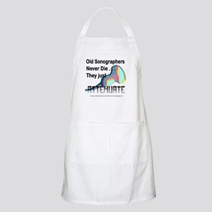 Old Sonographers Never Die Apron