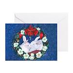 Two Bunnies and Mistletoe Christmas Cards (20)