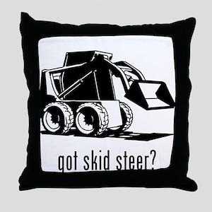 Skid Steer Throw Pillow