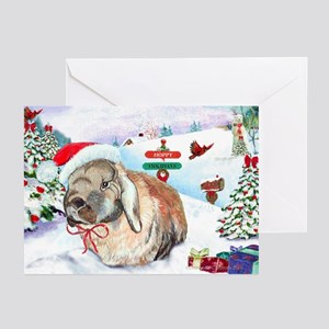 Giddeon Rabbit Hoppy Holiday Cards (Pk of 20)