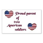 Proud Parent 2 Rectangle Sticker