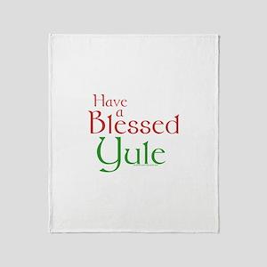 Blessed Yule Throw Blanket