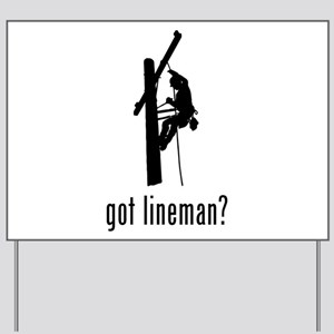 Lineman Yard Sign