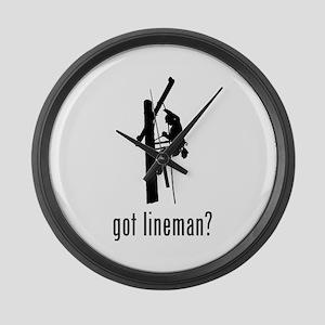 Lineman Large Wall Clock
