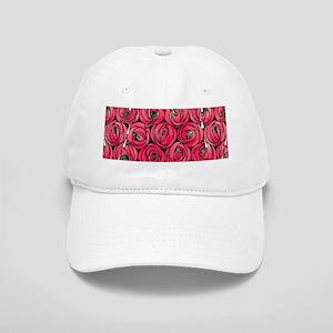 Art Nouveau Red Roses Cap