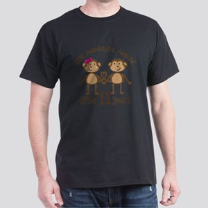 11th Anniversary Love Monkeys Gif T-Shirt