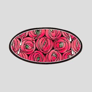 Art Nouveau Red Roses Patch
