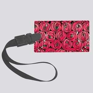 Art Nouveau Red Roses Large Luggage Tag