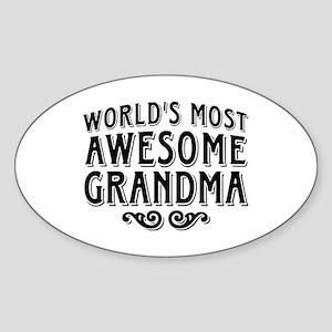 Awesome Grandma Sticker (Oval)