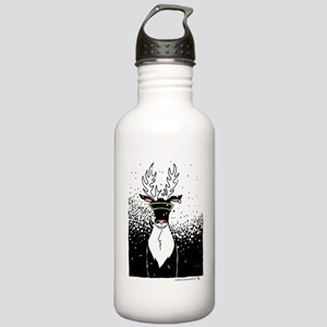 Snow Storm Reindeer Stainless Water Bottle 1.0L