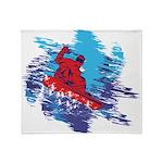 Snowboarder Blasting through the Sno Throw Blanket