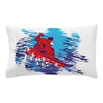 Snowboarder Blasting through the Snow Pillow Case