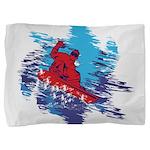 Snowboarder Blasting through the Snow Pillow Sham