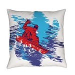 Snowboarder Blasting through the S Everyday Pillow
