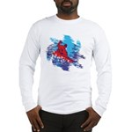 Snowboarder Blasting through t Long Sleeve T-Shirt