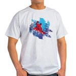 Snowboarder Blasting through the Sno Light T-Shirt