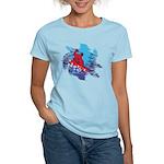 Snowboarder Blasting throu Women's Classic T-Shirt