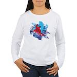 Snowboarder Blasting t Women's Long Sleeve T-Shirt